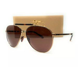 Burberry Men's Light Gold Brown Sunglasses!